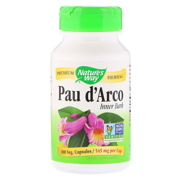 Nature's Way, Pau d'Arco Inner Bark, 545 mg, 100 Veg Capsules