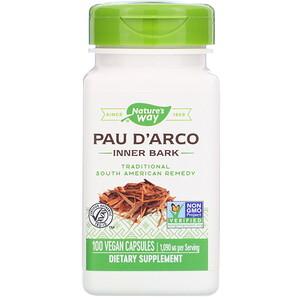 Натурес Вэй, Pau D'Arco Inner Bark, 1,090 mg, 100 Vegan Capsules отзывы покупателей