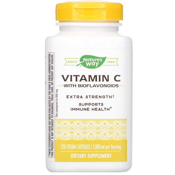 Nature's Way, Vitamin C with Bioflavonoids, 1,000 mg, 250 Vegan Capsules