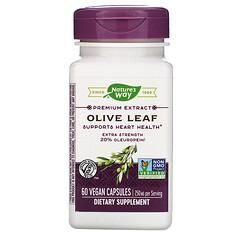 Nature's Way, Premium Extract, Olive Leaf, 250 mg, 60 Vegan Capsules