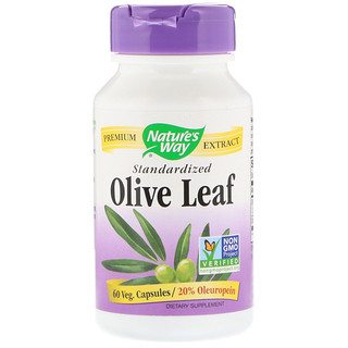 Nature's Way, Olive Leaf, Standardized, 60 Veg. Capsules