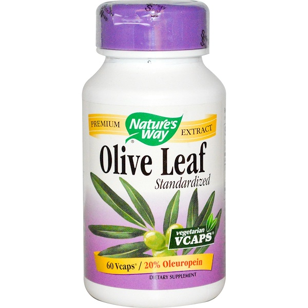 Nature's Way, Olive Leaf, Standardized, 60 Veggie Caps