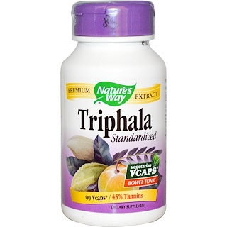 Nature's Way, Triphala, Standardized, 90 Veggie Caps