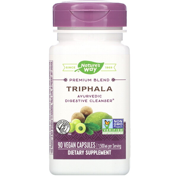Nature's Way, Premium Blend, Triphala, 90 Vegan Capsules