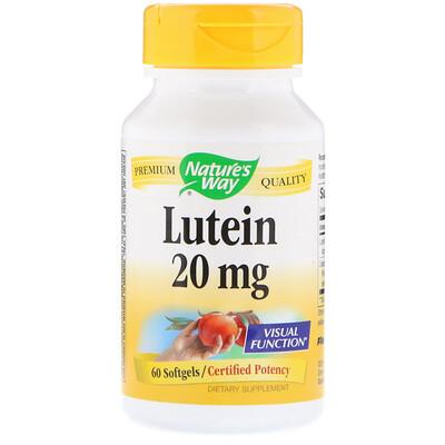 Фото - Лютеин, 20 мг, 60 мягких желатиновых капсул high absorption coq10 with bioperine 100 мг 60 мягких желатиновых капсул