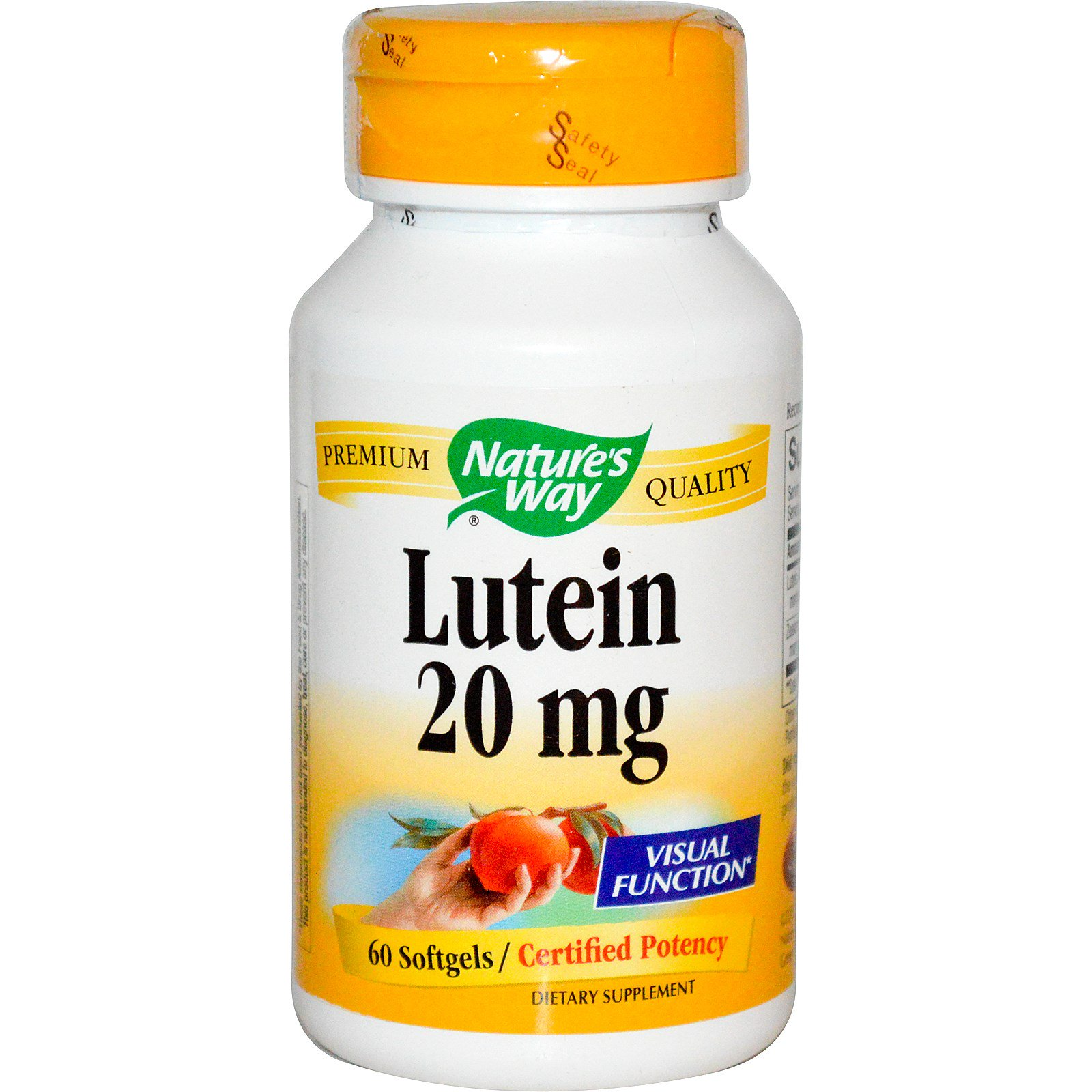 Nature's Way, Лютеин, 20 мг, 60 мягких желатиновых капсул