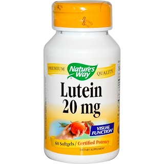 Nature's Way, Lutein, 20 mg, 60 Softgels