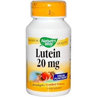 Nature's Way, 루테인, 20 mg, 60 소프트 젤