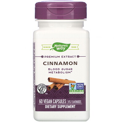 Nature's Way Cinnamon, 60 Vegan Capsules