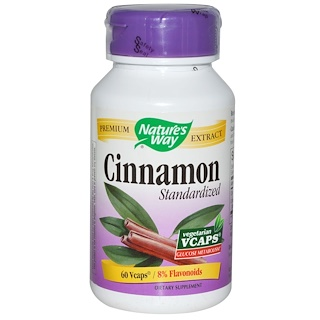 Nature's Way, Cinnamon, Standardized, 60 Veggie Caps