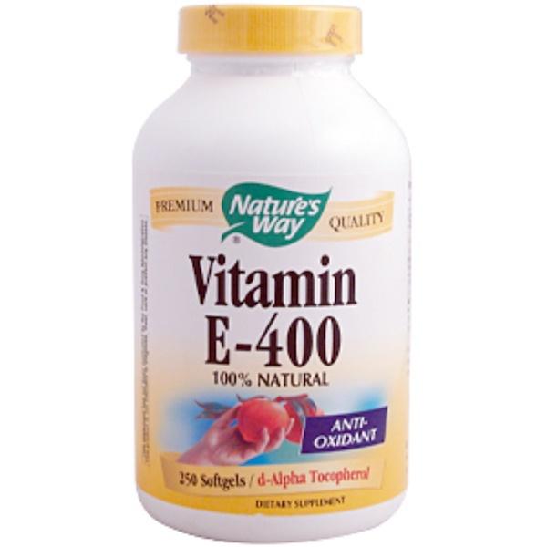 Nature's Way, Vitamin E-400, 250 Softgels (Discontinued Item)