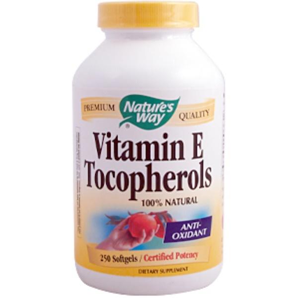 Nature's Way, Vitamin E Tocopherols, 250 Softgels (Discontinued Item)