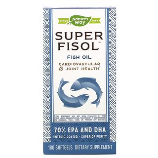 Nature's Way, Super Fisol, Fish Oil, 180 Softgels