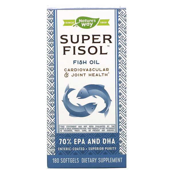 Super Fisol, рыбий жир, 180мягких таблеток