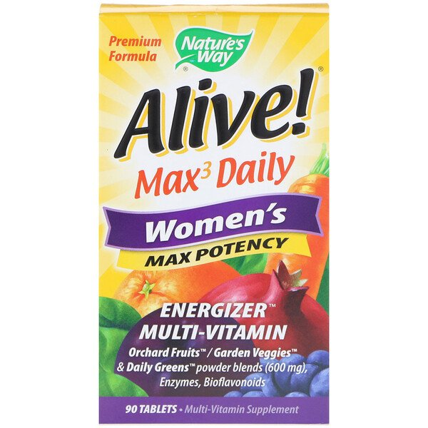 Nature's Way, Alive!, Max3 Daily, Women's Multivitamin, 90 Tablets