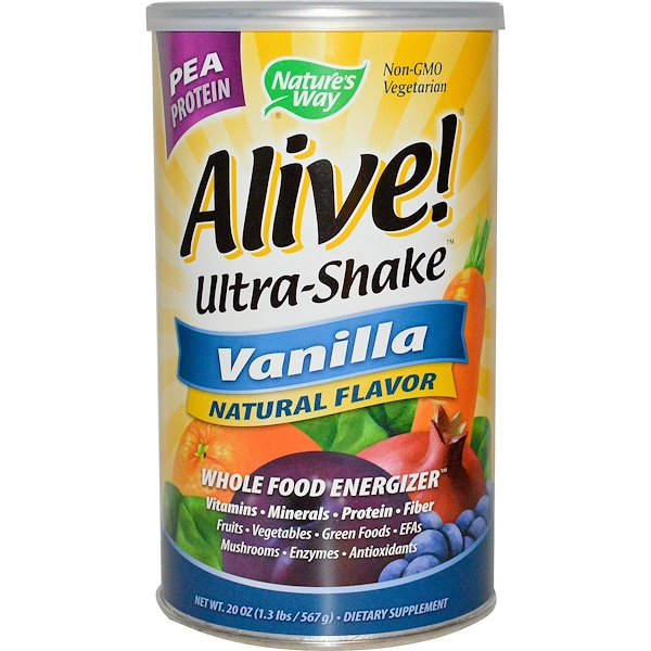 Nature's Way, Alive! Ultra Shake, Vanilla Flavor, 21 oz (585g) (Discontinued Item)