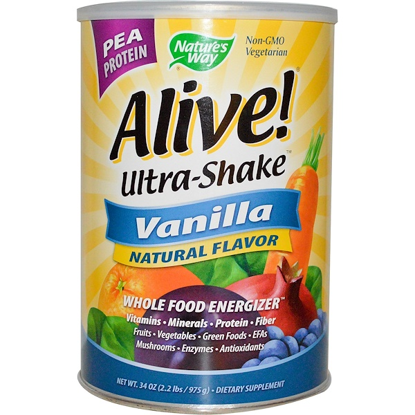Nature's Way, Alive! Ultra-Shake, Vanilla, 34 oz (975 g) (Discontinued Item)