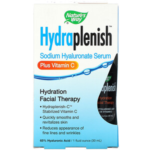 Натурес Вэй, Hydraplenish, Sodium Hyaluronate Serum, Plus Vitamin C, 1 fl oz (30 ml) отзывы покупателей