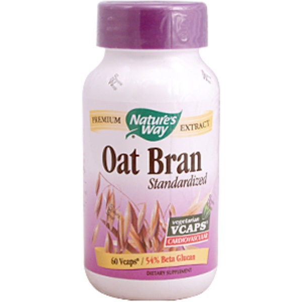 Nature's Way, Oat Bran Standardized, 60 Vcaps (Discontinued Item)