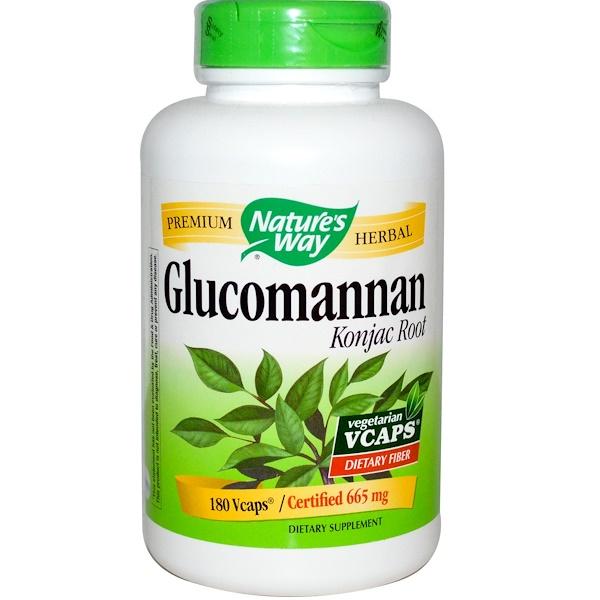 Nature's Way, Корень коньякового глюкоманнана, 180 растительных капсул