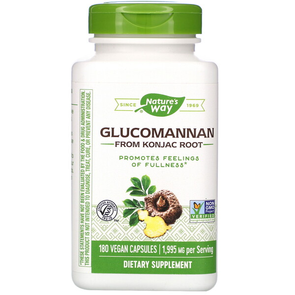 Glucomannan from Konjac Root, 1,995 mg, 180 Vegan Capsules