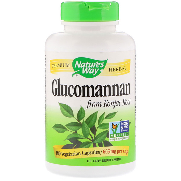 Nature's Way, Glucomannan from Konjac Root, 665 mg, 180 Vegetarian Capsules
