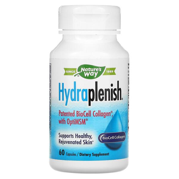 Hydraplenish, запатентованный коллаген BioCell Collagen с OptiMSM, 60капсул
