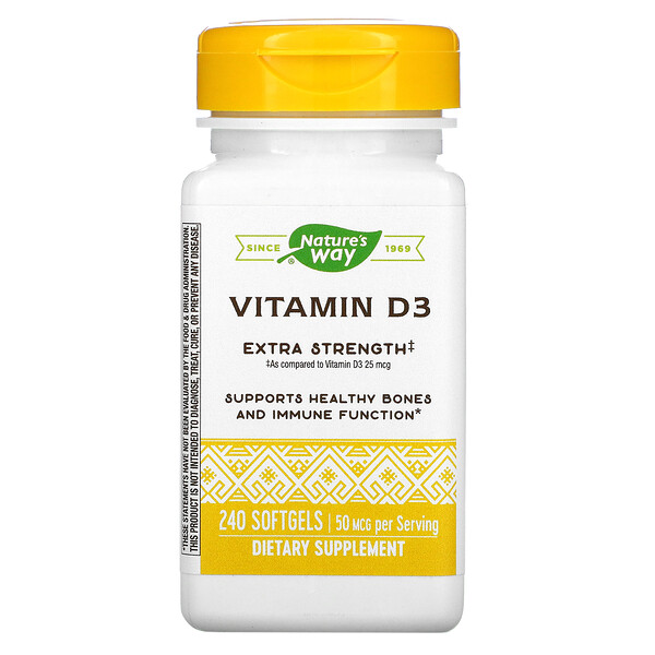 Vitamin D3, 50 mcg, 240 Softgels