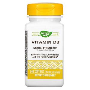 Натурес Вэй, Vitamin D3, 50 mcg, 240 Softgels отзывы