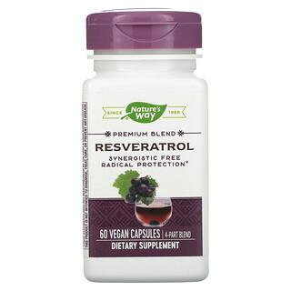 Nature's Way, Premium Blend, Resveratrol, 60 Vegan Capsules
