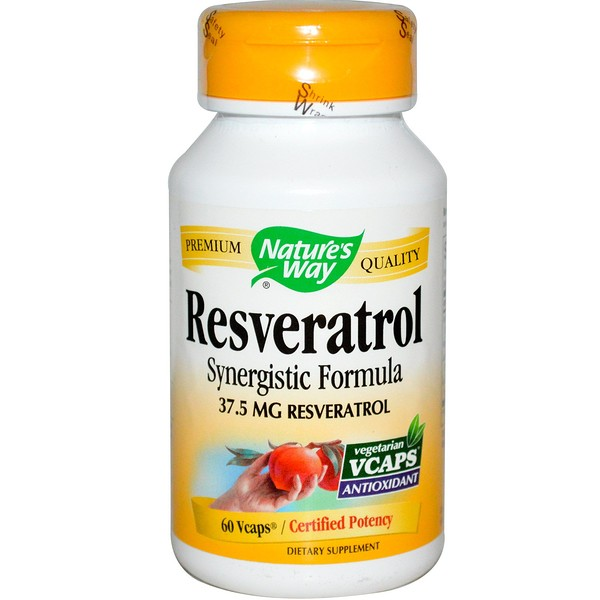 Nature's Way, Resveratrol, 60 Veggie Caps