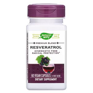 Натурес Вэй, Resveratrol, 60 Vegan Capsules отзывы покупателей
