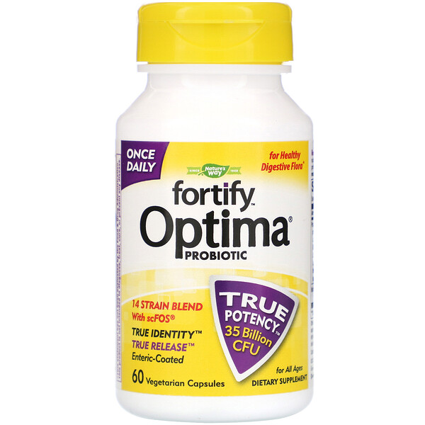 Fortify Optima Probiotic, For All Ages, 35 Billion CFU, 60 Vegetarian Capsules