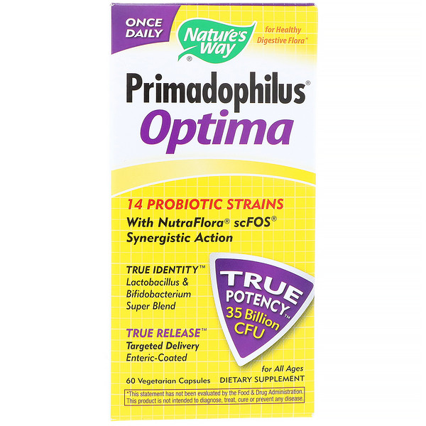 Nature's Way, Primadophilus Optima, Para Todas as Idades, 60 Cápsulas Vegetarianas
