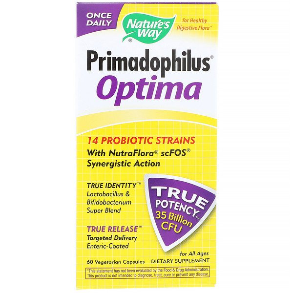 Nature's Way, Primadophilus Optima, For All Ages, 60 Vegetarian Capsules