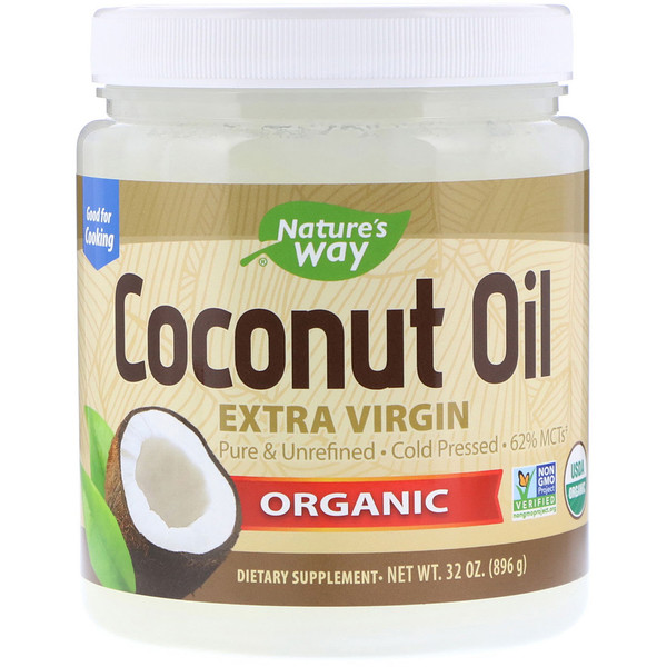 Organic, Coconut Oil, Extra Virgin, 2 lbs (896 g)