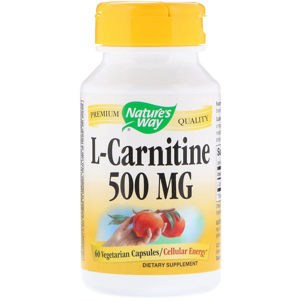 Nature's Way, L-Carnitine, 500 mg, 60 Vegetarian Capsules