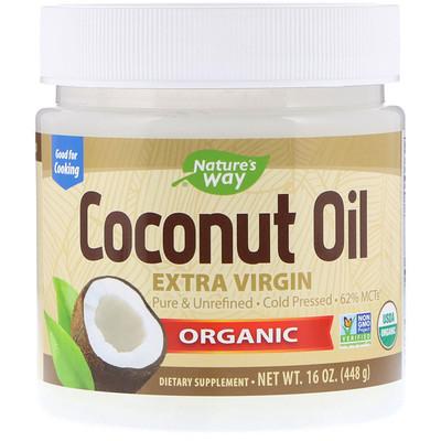 Органическое кокосовое масло, холодного отжима, 448г кокосовое масло холодного отжима мини 100 мл