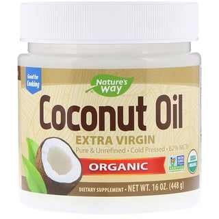 Nature's Way, Organic Coconut Oil, Extra Virgin, 16 oz (448 g)