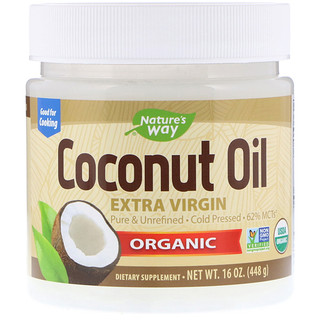 Nature's Way, Aceite de coco orgánico, Extra virgen, 16 oz (454 g)