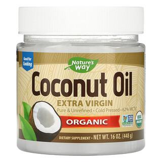 Nature's Way, органическое нерафинированное кокосовое масло высшего качества, 448г (16унций)