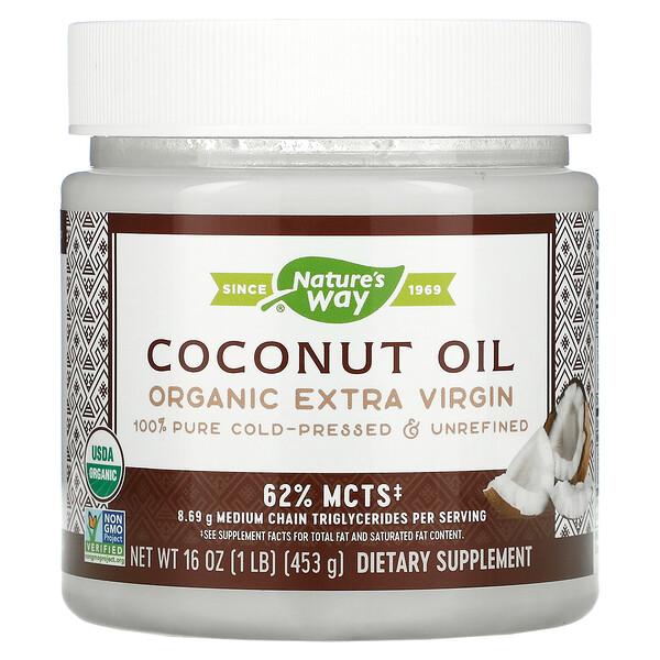 Óleo de Coco Orgânico, Extra Virgem, 448 g (16 oz)