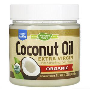 Натурес Вэй, Organic Coconut Oil, Extra Virgin, 16 oz (448 g) отзывы