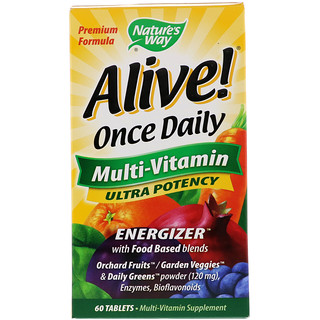 Nature's Way, Alive! Once Daily, Multi-Vitamin, 60 Tablets