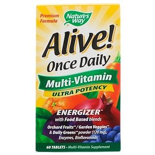 Nature's Way, Заряд энергии!, Мультивитамины, прием один раз в день, 60 таблеток