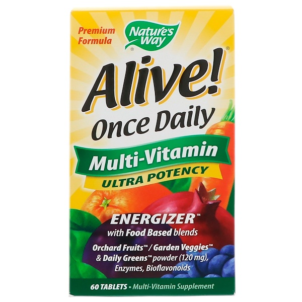 Nature's Way, Alive!, Once Daily, Multi-Vitamin, 60 Tablets