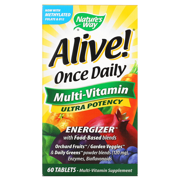 Alive! Once Daily, Multi-Vitamin, 60 Tablets