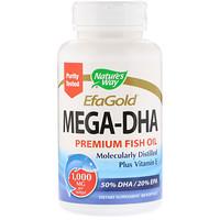 EfaGold, Мега-DHA, 1000 мг, 60 капсул - фото