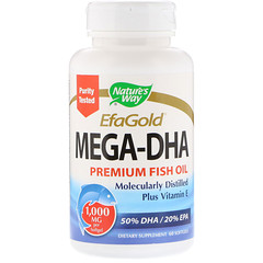 Nature's Way, EfaGold, Mega-DHA, 1000 mg, 60 Softgels