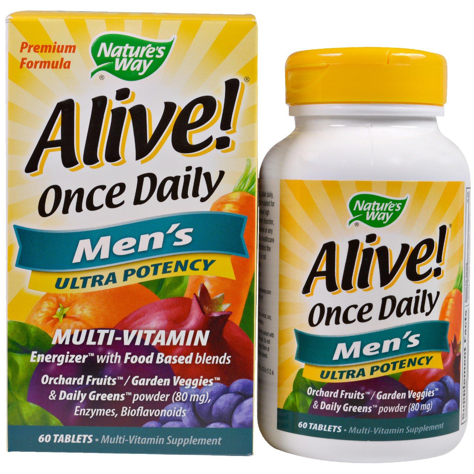 Nature S Way Alive Men S Multi  Tablets